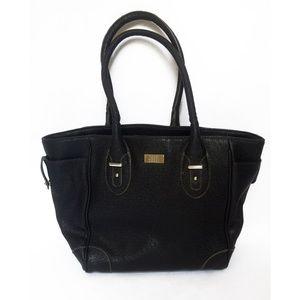 Nine & Co Black Shoulder Tote Hobo Satchel Bag